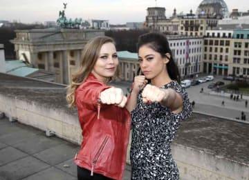 German Boxer Regina Halmich Joins 'Alita: Battle Angel' Star Rosa Salazar In Berlin