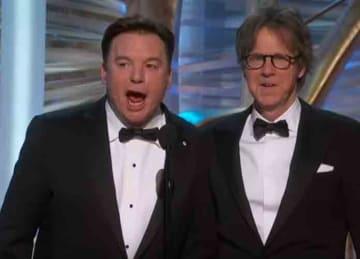 Mike Meyers and Dana Carvey present Bohemian Rhapsody at Oscars 2019