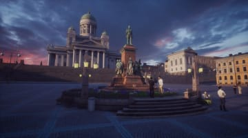「VRヘルシンキ」元老院広場