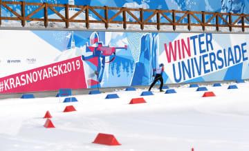 ユニバーシアード冬季大会のバイアスロン会場=27日、クラスノヤルスク(タス=共同)