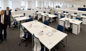 京都経済センターに入る京都商工会議所の新オフィス(京都市下京区)