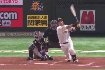 満塁本塁打を放ったソフトバンク・松田宣浩【画像:(C)PLM】