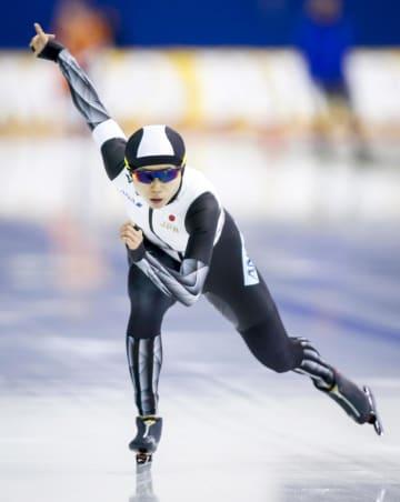 女子1500メートルで1位の高木美帆=カルガリー(カナディアンプレス提供・AP=共同)