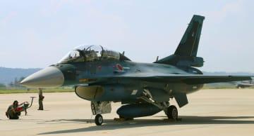 2月に墜落したF2戦闘機の同型機(航空自衛隊提供)