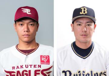 楽天の田中和基外野手、オリックスの大城滉二内野手