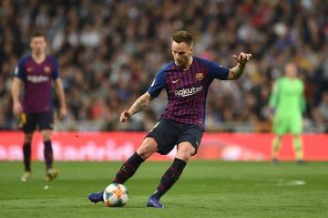 レアル戦で決勝ゴールを挙げたラキティッチ photo/Getty Images