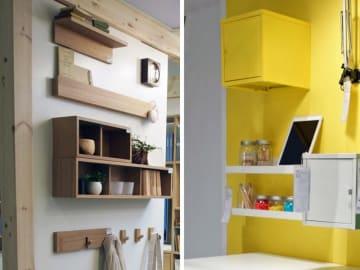 IKEAと無印良品の「壁面収納」で、広々と過ごせるアイテムと使い方をたっぷりご紹介します。