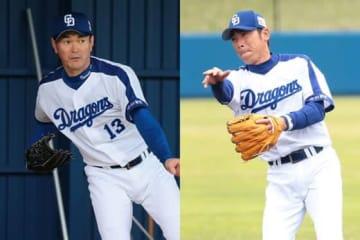 昨季限りで現役を引退した岩瀬仁紀氏(左)、荒木雅博氏【写真:荒川祐史】