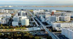 神戸市や兵庫県などが新たな研究開発拠点を整備する神戸医療産業都市=神戸市中央区