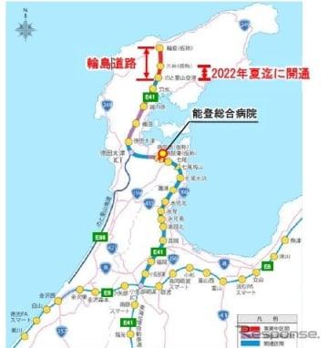 国道470号能越自動車道輪島道路・三井IC~のと里山空港IC間が2022年夏に開通へ