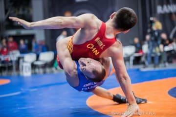 世界王者の実力を見せた60kg級のセルゲイ・エメリン=提供:UWWオフィシャルカメラマン・保高幸子