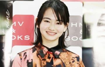 初写真集「PLANET NINE」の重版記念イベントに登場した山田杏奈さん