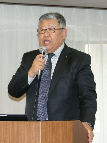 自社の実習生受け入れ事例について話す「やまろ渡辺」の渡辺正太郎会長