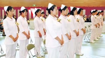 再開後の双葉准看護学院を初めて巣立つ卒業生たち
