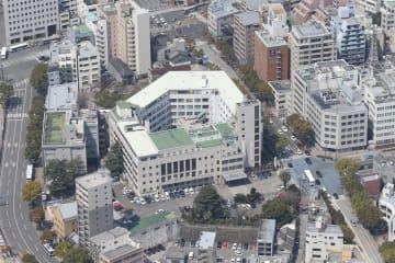空撮・旧県庁(2016年3月27日撮影)