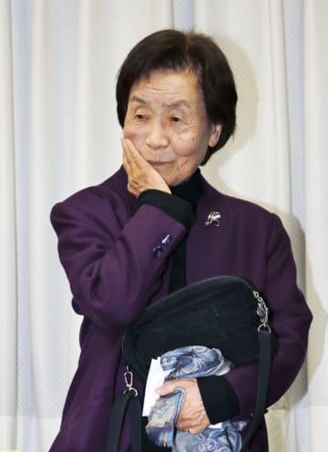 囲碁で現役最高齢の92歳で第38期女流本因坊戦の本戦に出場し、惜しくも敗れた杉内寿子八段=7日午後、東京都千代田区の日本棋院