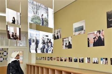 本年度いっぱいで閉校する平舘中で開かれている写真展「日々。」