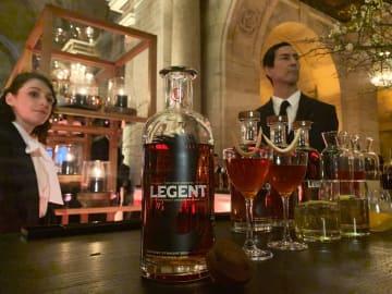 米国で発売されるビームサントリーの高級ウイスキーの新銘柄「LEGENT(リージェント)」=7日、米ニューヨーク(共同)