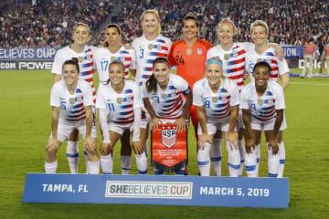 サッカーの米国女子代表=5日、米フロリダ州タンパ