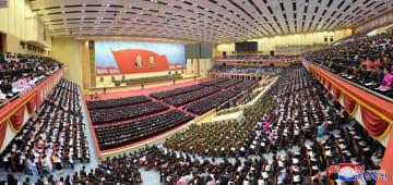 平壌で開催された「第2回全国党初級宣伝活動家大会」=7日(朝鮮中央通信=共同)