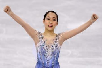 ユニバーシアード冬季大会第8日、フィギュア女子で金メダルの三原舞依=9日、クラスノヤルスク(タス=共同)