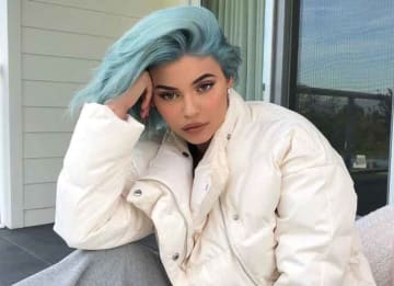 Kylie Jenner Debuts Icy Blue Hair Color