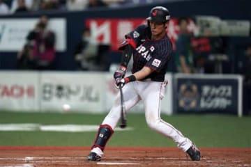 3安打の活躍を見せた侍ジャパン・上林誠知【写真:Getty Images】
