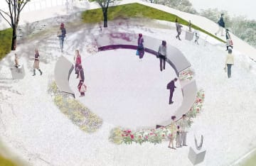 CFを活用して復興祈念公園に設置される銘板のイメージ