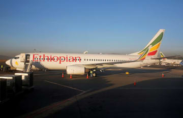エチオピア航空のボーイング737=2017年1月、アディスアベバ(ロイター=共同)
