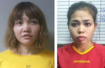 ドアン・ティ・フオン被告(左)、シティ・アイシャ被告(いずれもマレーシア警察提供・共同)