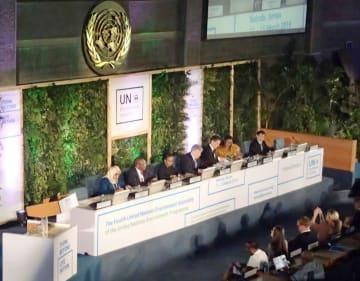 ナイロビで開幕した国連環境総会=11日(共同)