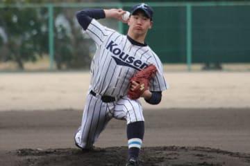 練習試合に登板した光泉・吉田力聖(りき)【写真:沢井史】