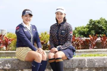 スリーボンドと契約した安田彩乃(左)と宮田成華(右)