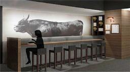 神戸ビーフ館の食体験スペースのイメージパース(兵庫県提供)