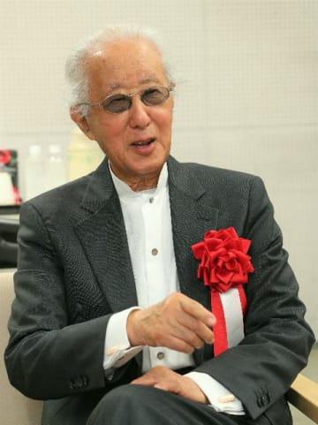プリツカー賞の受賞者に選ばれた磯崎新氏=昨年12月、大分市アートプラザ