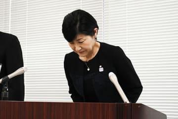 「尊い命が失われたことを重く受け止め、再発防止に全力で取り組む」と述べた細田真由美教育長=11日午後、さいたま市役所