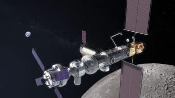 米国が計画する月周回の新宇宙ステーションのイメージ(NASA提供)