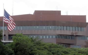 ベネズエラの首都カラカスにある米大使館(AP=共同)