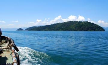 クルージング体験ツアーが行われる琵琶湖の沖島