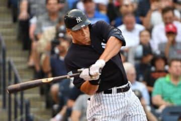 オリオールズ戦で本塁打を放ったヤンキースのアーロン・ジャッジ【写真:Getty Images】