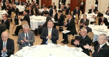 元日本代表選手らの話を聞く参加者