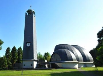 磯崎氏が設計した東京基督教大学のチャペルの外観
