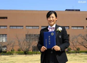 卒業式で山口すず夏が3年間の思い出を語った(撮影:福田文平)
