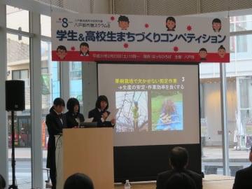 学生がまちづくり活動の成果を発表したコンペティション