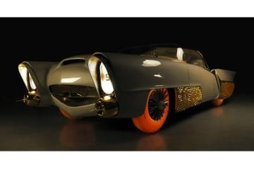 グッドイヤー 発光するタイヤ 50年代のコンセプトカー「ゴールデンサハラ2」に装着