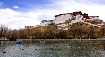 ラサにも春の訪れ チベット自治区