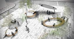 「さんきたアモーレ広場」の新デザインに選ばれた作品=神戸市提供