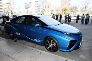 岡山市が公用車に導入した燃料電池車