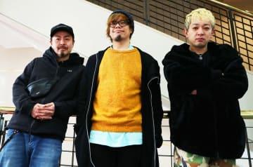 5月のライブに向けて意気込む10-FEETのメンバー=長崎新聞社
