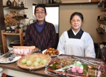 「日帰り温泉を巡るなど沼田の生活を楽しんでいる」と話す岡田さん夫妻。新天地での開業を喜んでいる